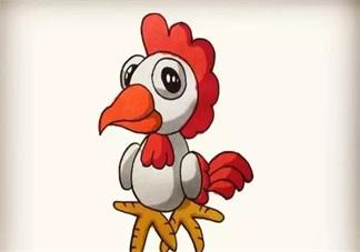 宝宝简笔画  简单画出大公鸡