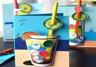 清凉夏日自制小玩具 DIY夏日帽子和饮料