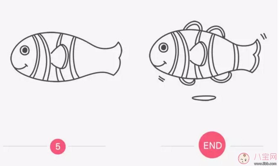 海洋生物趣味多 鱼类简笔画