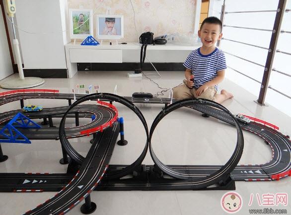 小男孩玩具车哪个牌子好 agm音速风暴儿童路轨赛车玩具测评