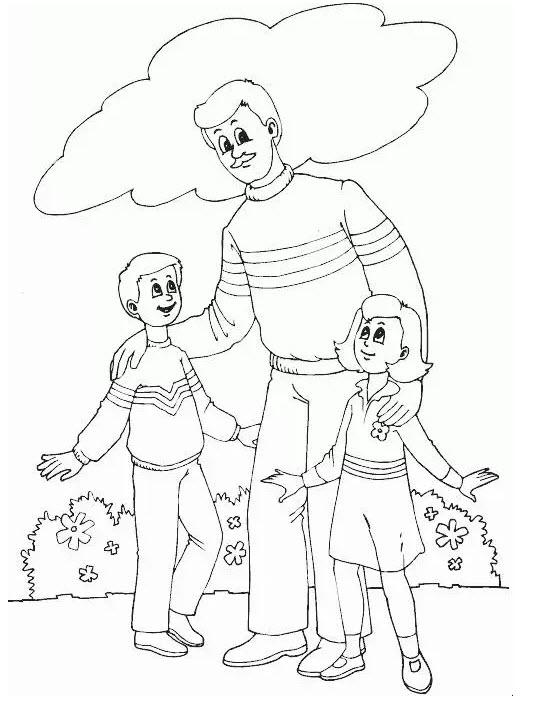 2019父亲节简笔画图片大全集 祝天下所有父亲节日快乐图片