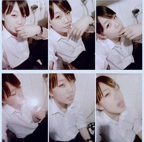 徐梦洁抽烟照片是本人吗 小彩虹徐梦洁抽烟图片眉毛没有痣