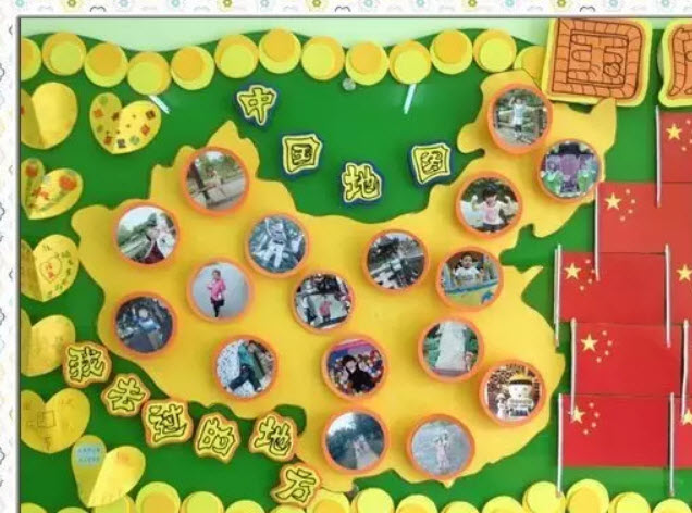 幼儿园国庆节主题墙布置环创图片 2018幼儿园国庆节装饰主题墙创意