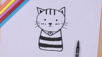 小猫咪简笔画视频   可爱小猫咪画法教程