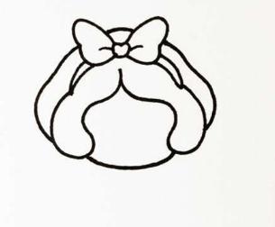 白雪公主简笔画怎么画 简笔画步骤