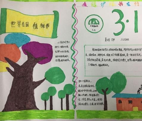 2019植树节手抄报大全 植树节的手抄报该怎么画画