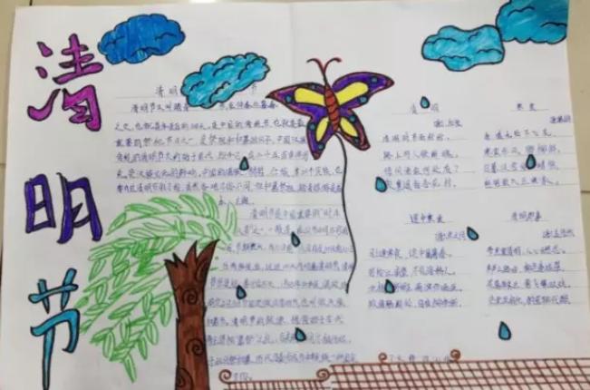幼儿园清明节手抄报内容 2019幼儿园清明节手抄报图片