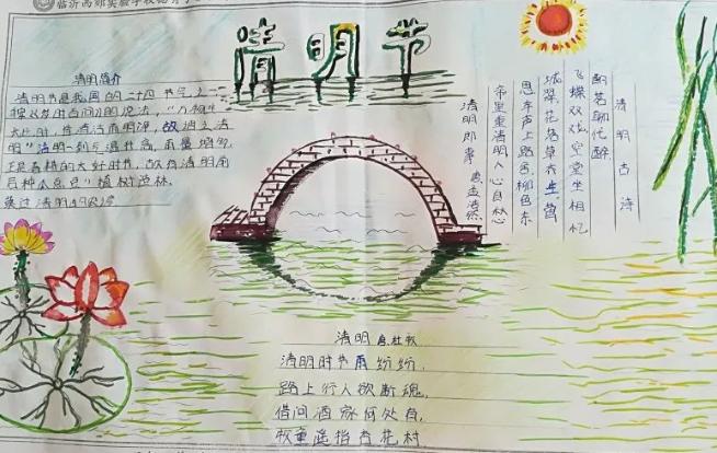 幼儿园清明节手抄报图片 简单大方的幼儿园清明节手抄报
