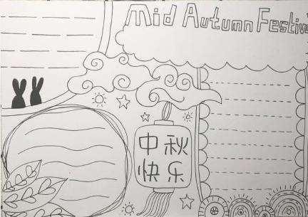 2019中秋节手抄报大全 简单漂亮的中秋节手抄报图片