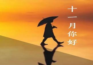 十一月早安正能量励志句子2019 迎接十一月经典唯美说说