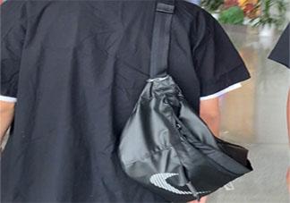 王一博换包了是什么牌子款式的 王一博黑色耐克包在哪买