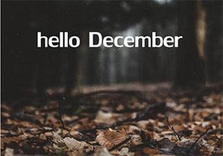 十二月你好图片唯美带字说说2020 十二月你好图片带字朋友圈说说大全