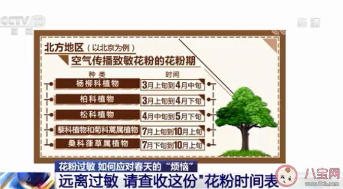 【万爱娱】2021南北方花粉时间表 外出怎么预防花粉过敏